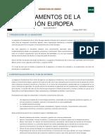 Fundamentos de La Unión Europea 2017