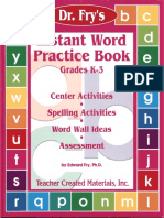 Fry Edward Instant Word Practice Book Grades k3