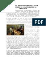 Papel Del Medio Geografico y de La Poblacion en El Desarrollo de La Sociedad