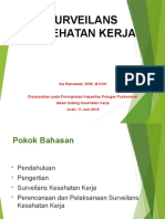 Surveilans Kesehatan Kerja Aceh