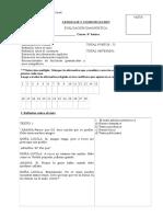 Evaluación diagnóstica 6° básico LEnguaje