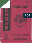 DLI German Headstart - Cultural Notes