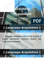 Learning and Acquisition