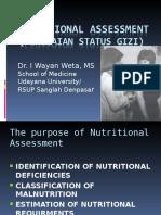 3.4.3. Nutritional Assessment