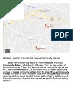 Relative Location of Our School Daraga Community College