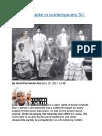 Impact of caste in contemporary Sri Lanka.docx