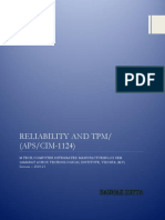 Reliability and TPM - CIM 1124