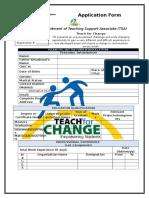TfC Application Form