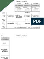 timetable yr 3-4 term 1