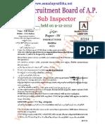 S.I Police Paper - IV General Studies 2012.pdf