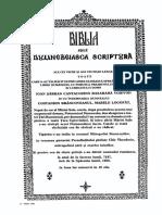 Biblia Bucuresti 1688