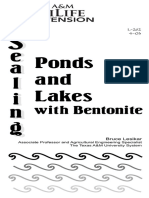 Sealing Ponds and Lakes With Bentonite