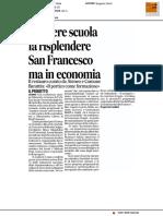 Cantiere Scuola di restauro fa risplendere San Francesco, ma in economia - Il Corriere Adriatico del 17 febbraio 2017