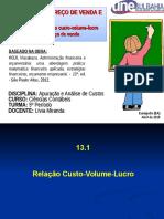 Custo, Volume e Lucro (2)