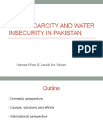 Food Scarcity and Water Insecurity in Pakistan
