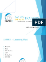 Training UI5