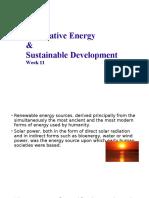 Alternative Energy & Sustainable Development Week11