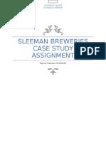 Sleeman Breweries Case Study