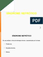 Síndrome nefrótico.