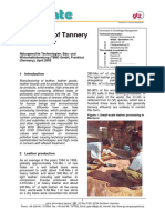 Treatment of Tannery Wastewater