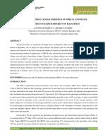 1.App- Study of Profile Characteristics of Wheat