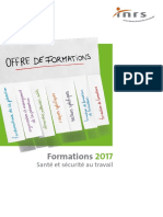 INRS - Formations 2017