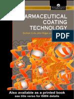 Pharmaceutical Coating Technology Good Book