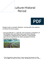 Agriculture Historal Period