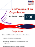 SMSVCCU-S16.Culture and Values of an Organization