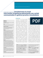Randomised Controlled Trial of a Brief Intervention Targeting Predominantly Non-Verbal Communication in General Practice Consultations