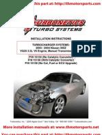 Turbonetics 350Z Turbo Kit Installation Manual 15134-t