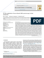 On-line Application of Near Infrared (NIR) Spectroscopy in Food