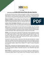 2016 July Chita Valley Project - Fact Sheet