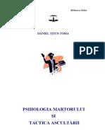 Daniel Titus Toma, Psihologia martorului si tactica ascultarii (1).pdf