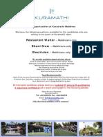 Advertisement Job Maldives 20.02.17