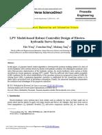 LPV Model-based Robust Controller Design of Electro