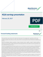4Q16 Earnings Presentation