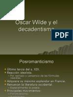 Oscar Wilde y el decadentismo