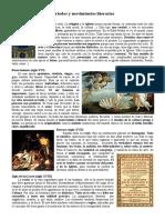 Periodos y movimientos literarios de la Edad Media al siglo XVIII
