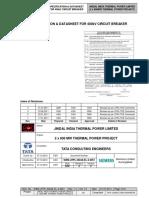 400kV Circuit Breaker data sheet