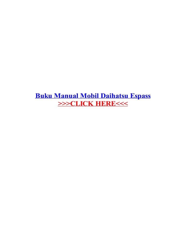 Free Download Manual Book Daihatsu Espass