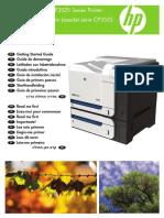 Manual de Impresora HP Color LaserJet CP3525
