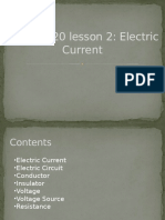 Electric Current (Elementary)