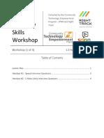 1 Job Interview Skills Workshop