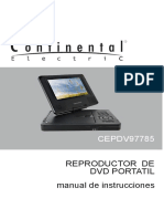 Manual de reproductor de dvd portatil continental