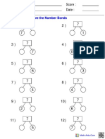 Number Bonds Trees 7