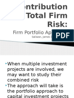 Contribution to Total Firm Risk
