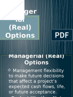 Managerial (Real) Options