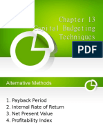 Chapter13 (Capital Budgeting Techniques)(1)