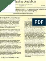 May 2007 Apalachee Audubon Society Newsletter